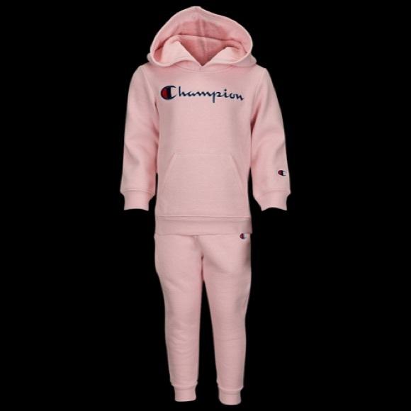 b5b909e0f Baby Girl Pink Champion Sweatsuit Boutique